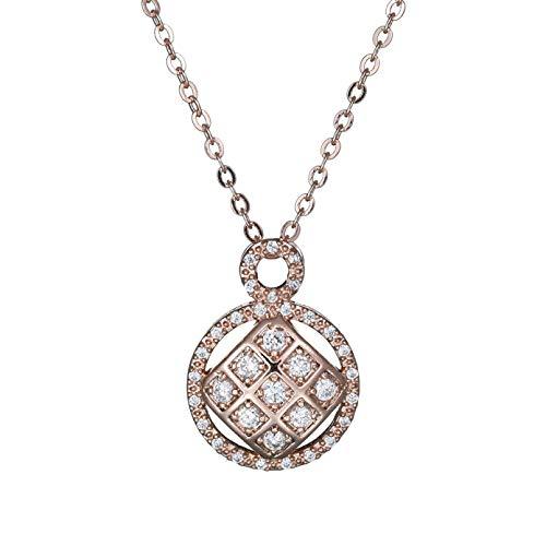 Collar Colgante Colgante micro-incrustado de la manera de la joyería de la joyería de la calidad del collar del circón del grado pendiente Collar amistad Aniversario San Valentín Regalo
