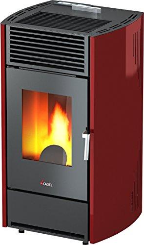 CADEL - pelletkachel KRISS staal rood 8,5 kW - beschikbaar