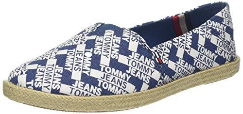 Hilfiger Denim Damen Allover Slip on Slipper, Blau (Tommy Jeans Denim Print 901), 40 EU