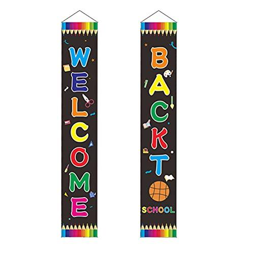 Cabilock 1 paar terug naar school koppelingen welkom banners deur opknoping banner decor