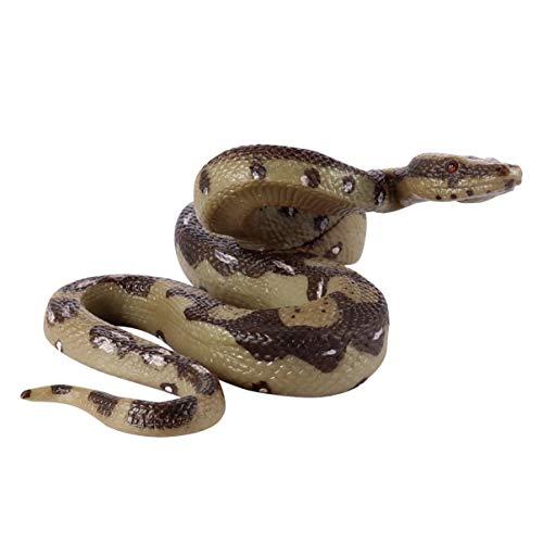 STOBOK Juguete de Serpiente de Goma Modelo de Serpiente Pitón Juguete de Serpiente Realista Figura de Animal de Broma de Miedo