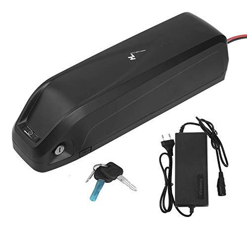 Batteria Li-ion Ebike, Batteria bici elettrica 48V,17Ah, con porta USB + caricatore + blocco antifurto + piastra di collegamento fissa, per motore 250-1000W
