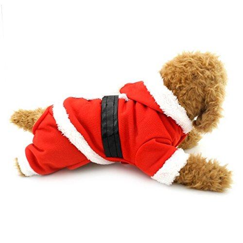 Pegasus pour chien de Noël Vêtements pour chien Costume capuche pour chien Costume de Père Noël pour petits chiens