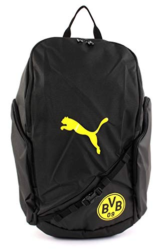 Puma BVB Liga Backpack Rucksack, Black-Cyber Yellow, UA