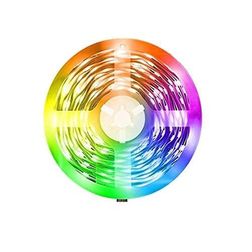 Tira de luces LED de 24 V con Bluetooth SMD 5050 para decoración de diodos, sala de estar, cadena luminosa, luces LED, cuerda de luces (tamaño: 5 m, vatiaje: enchufe británico)