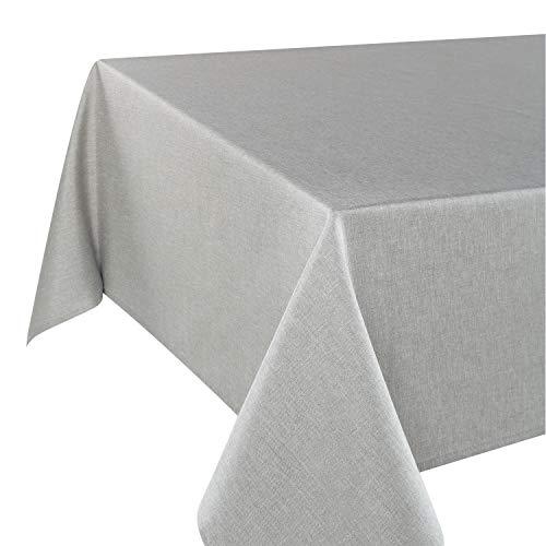 Tischdecke Wien, grau, 130x160 cm, Fleckschutz, Tischdecke für das ganze Jahr
