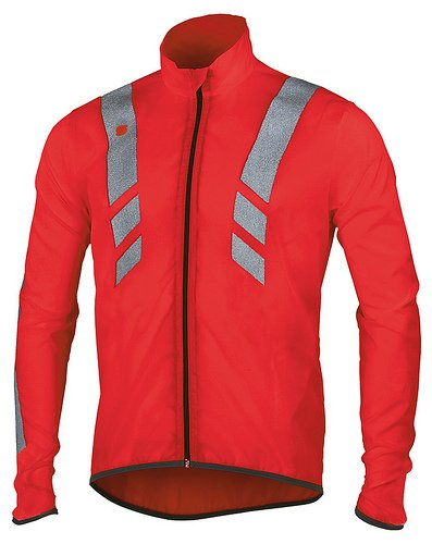 Sportful Reflex 2 Jacket, Wind Chaqueta con reflectores, color rojo, tamaño xx-large