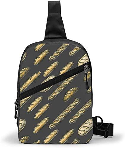 Bolsa larga de baguette para pan, bandolera, hombro, para exteriores, senderismo, viajes, bolsa de bolsillo personal para mujeres, hombres, resistencia al agua