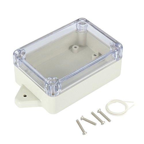 Fanuse 3,9x2,7x1,6 Zoll (100mmx68mmx40mm) ABS-Anschlussdose Universal-Projekt Gehaeuse mit PC transparente Abdeckung