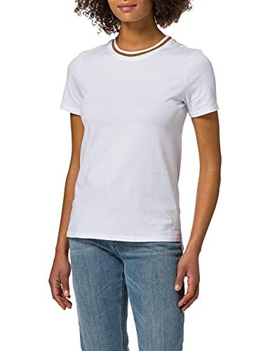 edc by ESPRIT Damen 031CC1K333 T-Shirt, 100/WHITE, XS