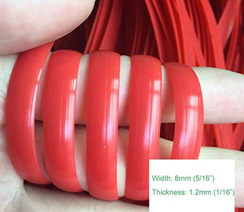 Feyart - Cesta de mimbre de color sólido de ratán de plástico sintético para reparar tejidos, muebles de jardín, rosso