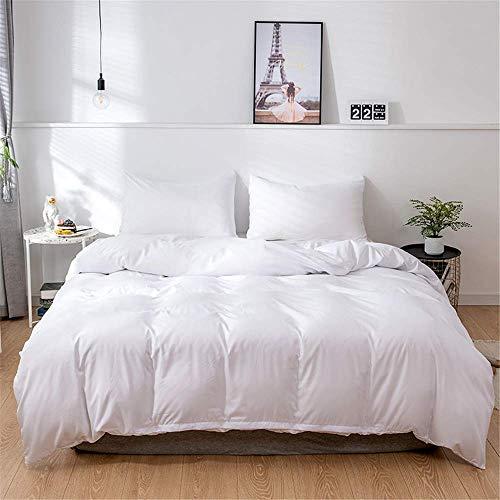 Duvet Cover Set Solid Color Nordic Bedding Set, Single Double King Size Microfiber Nordic style Soft Duvet Set with Zipper Closure Quilt Case and 1/2 Pillowcases (Black,135x200cm)