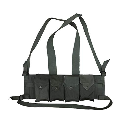 Bush War Magazine Chest Rig OD Green Color - Reproduction