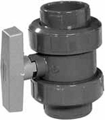 PVC-Kugelhahn, 2 Anschlüsse, Klebemuffe, 40 mm