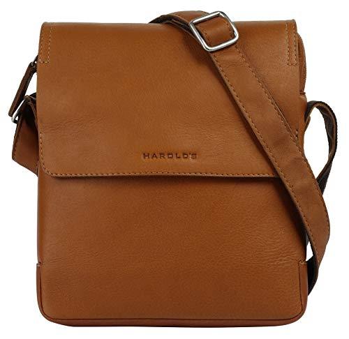 Harold's Antic Umhängetasche Cognac 20x5x24cm Ledertasche Handtasche