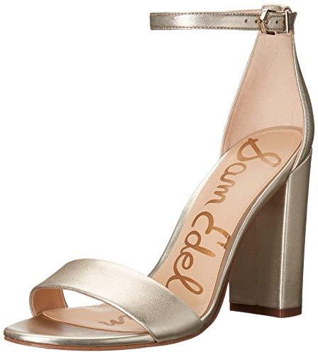 Sam Edelman Women's Yaro Dress Sandal, Jute Metallic Leather, 8.5...