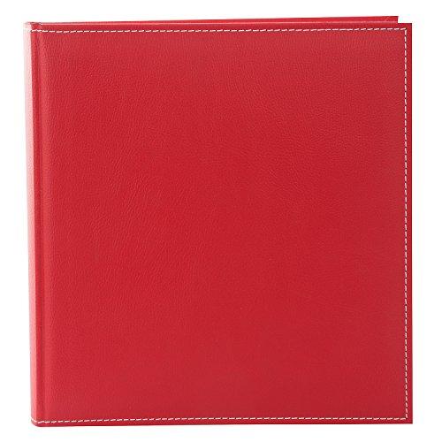 goldbuch 31817 - Fotoalbum Cezanne, Bilderalbum mit 100 weiße Seiten und Pergamin Trennblätter, Foto Album zum Einkleben, Fotobuch mit Kunstleder Einband, Erinnerungsalbum ca. 30 x 31 cm, Rot