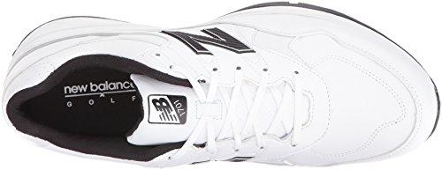 New Balance Men's NBG1701 Golf Shoe, White/Black, 44 EU