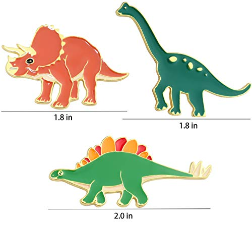 Dinosaur Pins for Backpacks Jurassic Dinosaur Enamel Pin Set Cute Enamel Pins