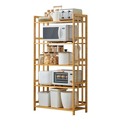 Kokof Ablageboden aus Edelstahl, Regaleinheit aus Metall, zur Aufbewahrung von Würfeln, Küchenregal, Multifunktions-Rost für Mikrowelle, 5-55 cm