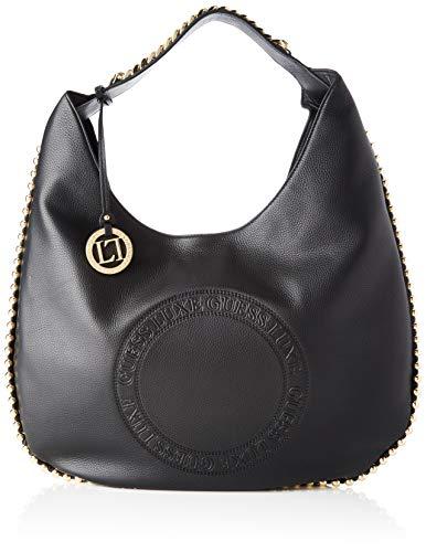 Guess - Eve, Shoppers y bolsos de hombro Mujer, Negro (Black G), 0.5x45x45 cm (W x H L)