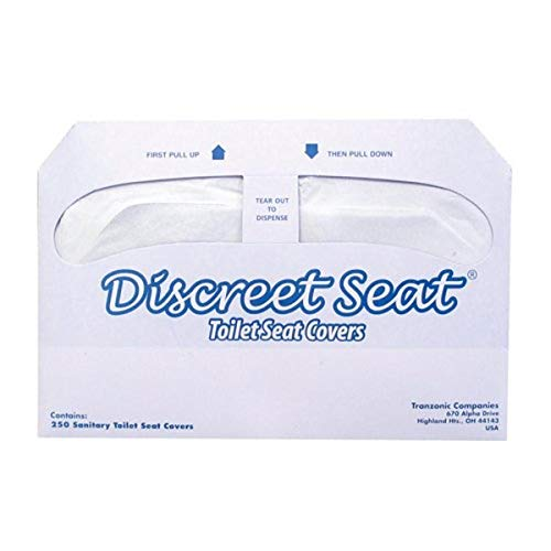 Hospeco Discreet Seat Half-Fold Toilet Seat Covers (20 Packs of 250) - DS-5000