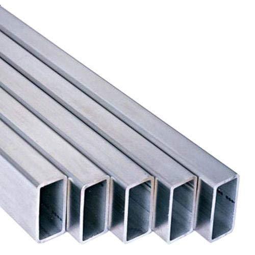 MN 6082-T6 Aluminium-Kastenprofil, rechteckig, 38,1 x 19 mm, 1,3 mm, 300 mm Länge
