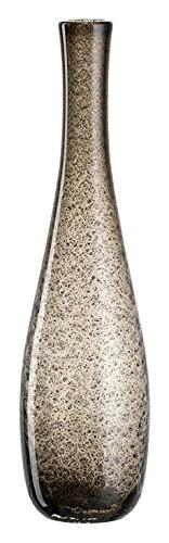 Leonardo Giardino Glas-Vase, handgefertigte Deko-Vase in Braun, bauchige Blumen-Vase, Höhe: 400 mm, 034904