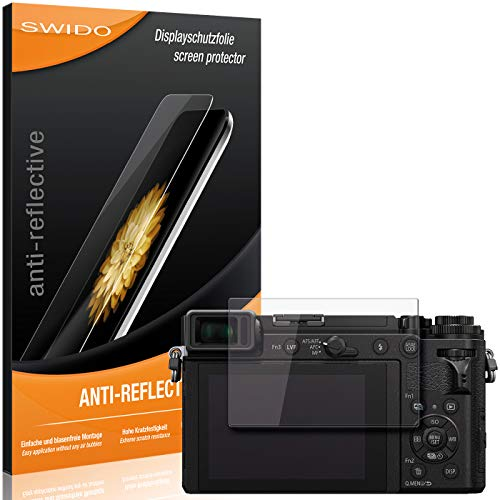 SWIDO Bildschirmschutzfolie für Panasonic Lumix DC-GX9 [3 Stück] Anti-Reflex MATT Entspiegelnd, Extrem Kratzfest, Schutz vor Kratzer/Folie, Bildschirmschutz, Schutzfolie, Panzerfolie