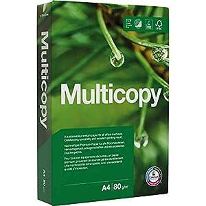 Papyrus Multicopy Papel A4 (210×297 mm, 80 g/m²), Color blanco, 500 hojas, 1 unidad