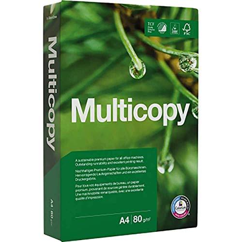 Kopierpapier MultiCopy, A4, 80 g/qm, Weißegrad 168 CIE, weiß