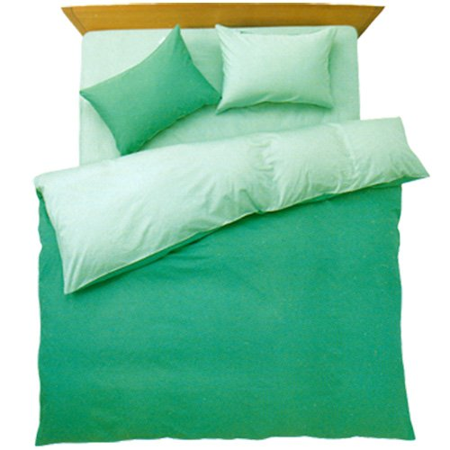 FROM ベッド用 布団カバー 3点セット シングル 日本製 アップルグリーン/ミントグリーン
