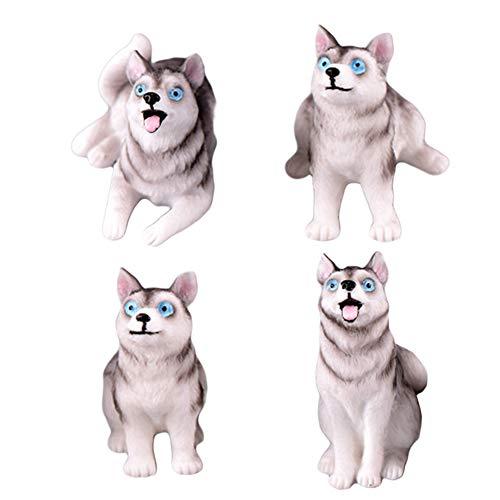 KingbeefLIU Simulación De Resina Husky Dog Animal Figurita Miniatura Fairy Garden Bonsai...