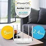 TP-Link Archer C60 AC1350 Dual Band Wireless, Wi-Fi Speed Up to 867 Mbps/5 GHz + 300 Mbps/2.4 GHz, Supports Parental Control, Guest WiFi, MU-MIMO Router