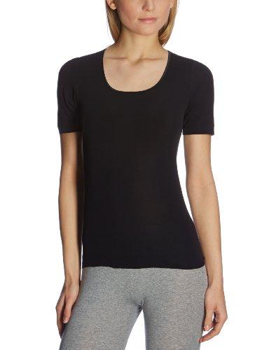 Schiesser Damen Spenzer 1/2 Arm Unterhemd, Schwarz (000-schwarz), 38 (M)