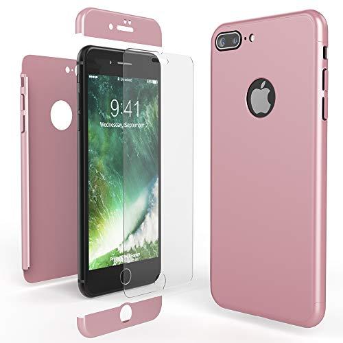 NALIA Funda Integral Compatible con iPhone 7 Plus, Carcasa Completa con Cristal...