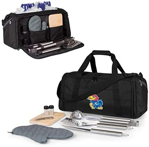 PICNIC TIME NCAA Kansas Jayhawks BBQ Kit Cooler Tote with Barbecue Accessories product image