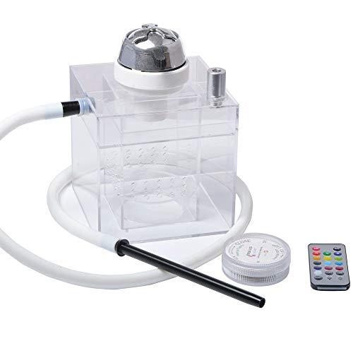 Preisvergleich Produktbild Daily Necessities Hookah Narguile Shisha,  LED Shisha mit Fernbedienung,  Tragbare Acryl-Wasserpfeife,  Araber Schlauch Shisha Combo Kit Set