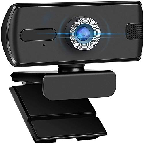 MASALING Webcam 1080p Full HD mit Stereo-Mikrofon, Web-Kamera für Videochat und Aufnahme Webcam USB 2.0 Plug und Play für Laptop, PC, Desktop, für Live-Streaming