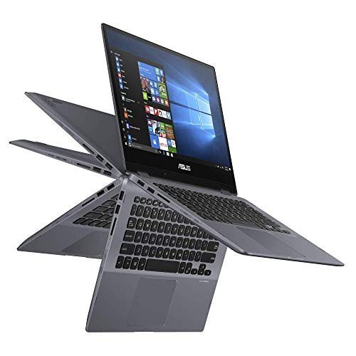 ASUS VivoBook Flip 14 TP412FA (90NB0N31-M04170) 35,5cm (14 Zoll, Full HD, WV, Touch) Convertible Notebook (Intel Core i5-8265U, Intel UHD-Grafik 620, 8GB RAM, 512GB SSD, Windows 10) Star Grey