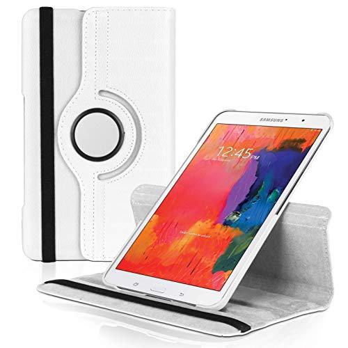 United Hülle Tablet Etui Hülle für Samsung Galaxy Tab Pro 8.4 / T320 | Weiß | Kunstleder TPU