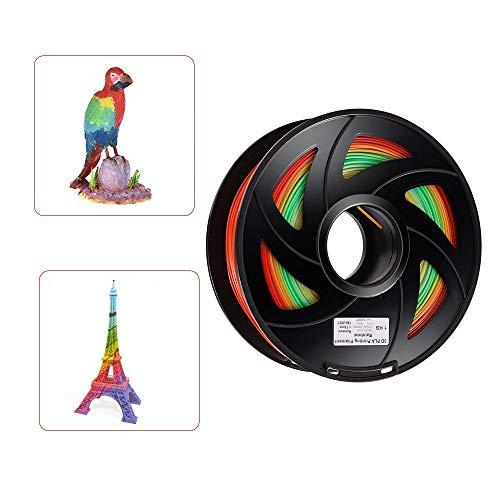FAN-MING-N-3D, PLA 3D Printer Filament Kleur veranderen Regenboog Multi kleuren 1.75mm 1kg Spool 1 Roll Kleur Willekeurige Levering