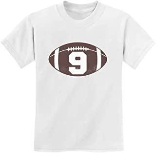 Gift for 9 Year Old Boy Football 9th Birthday Youth Kids T-Shirt