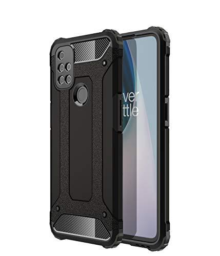 TingYR Hülle für OnePlus Nord N10 5G Handyhülle, [Anti-Fall] TPU/PC-Stoßdämpfer-Handyabdeckung, Schutzhülle für OnePlus Nord N10 5G.(Schwarz)