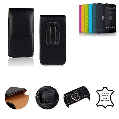 K-S-Trade® Holster Gürtel Tasche Für Shift Shift4.2 Handy Hülle Leder Schwarz, 1x