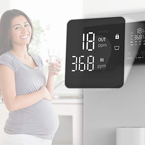 smardy blue noura Premium Wasserbar – Auftisch Osmoseanlage Wasserfilter mobil – 4 Temperaturstufen - UV Sterilisation - 4
