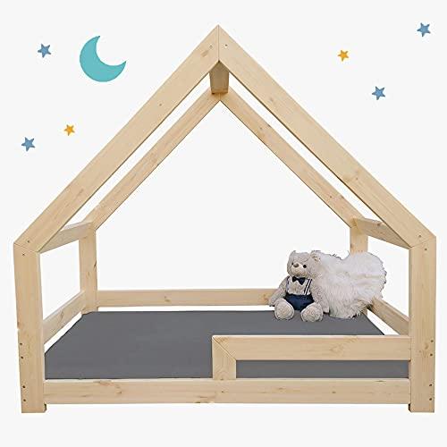 (180x90 cm, con barandillas) NeedSleep® cama infantil niño cama casita montessori   140x70 160 x80 180x90   cama juvenil   cama bebe   niña niño   casitas de madera infantiles   Simétrico