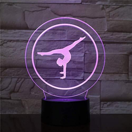 North cool Nuit Night Light Sport Gymnastique Figure Lampe USB LED 3D Night Light Multicolor Lumières Décoratives Enfant Petits Garçons Enfants Cadeaux For Bébé (Color : Multi-colored)
