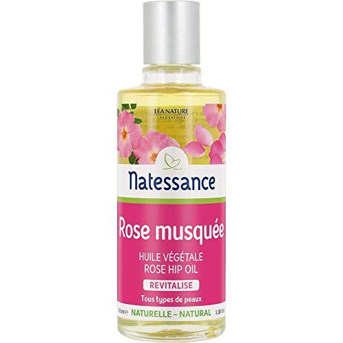 NATESSANCE Huile de Rose Musquée Prévient du Vieillissement/Répare - 100 ml
