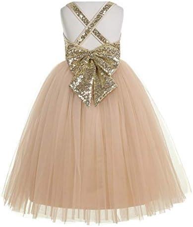 ekidsbridal Crossed Straps A Line Flower Girl Dresses Junior Bridesmaid Dress Formal Dresses product image